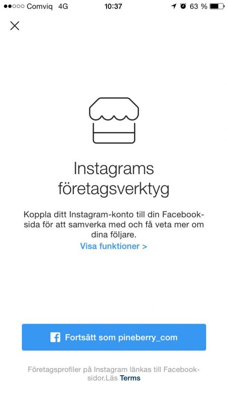 koppla instagram business