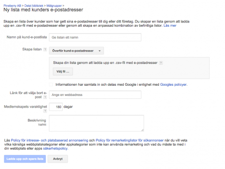 customer match adwords