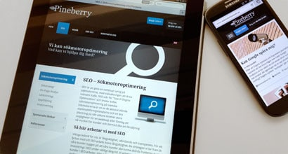 responsiv design Pineberry